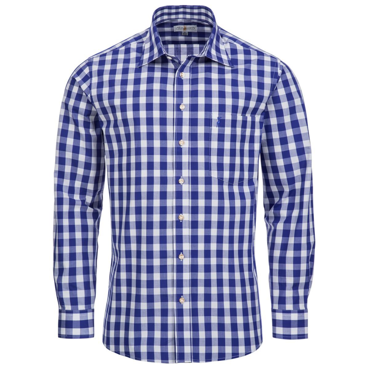 Blaues Trachtenhemd von Almsach