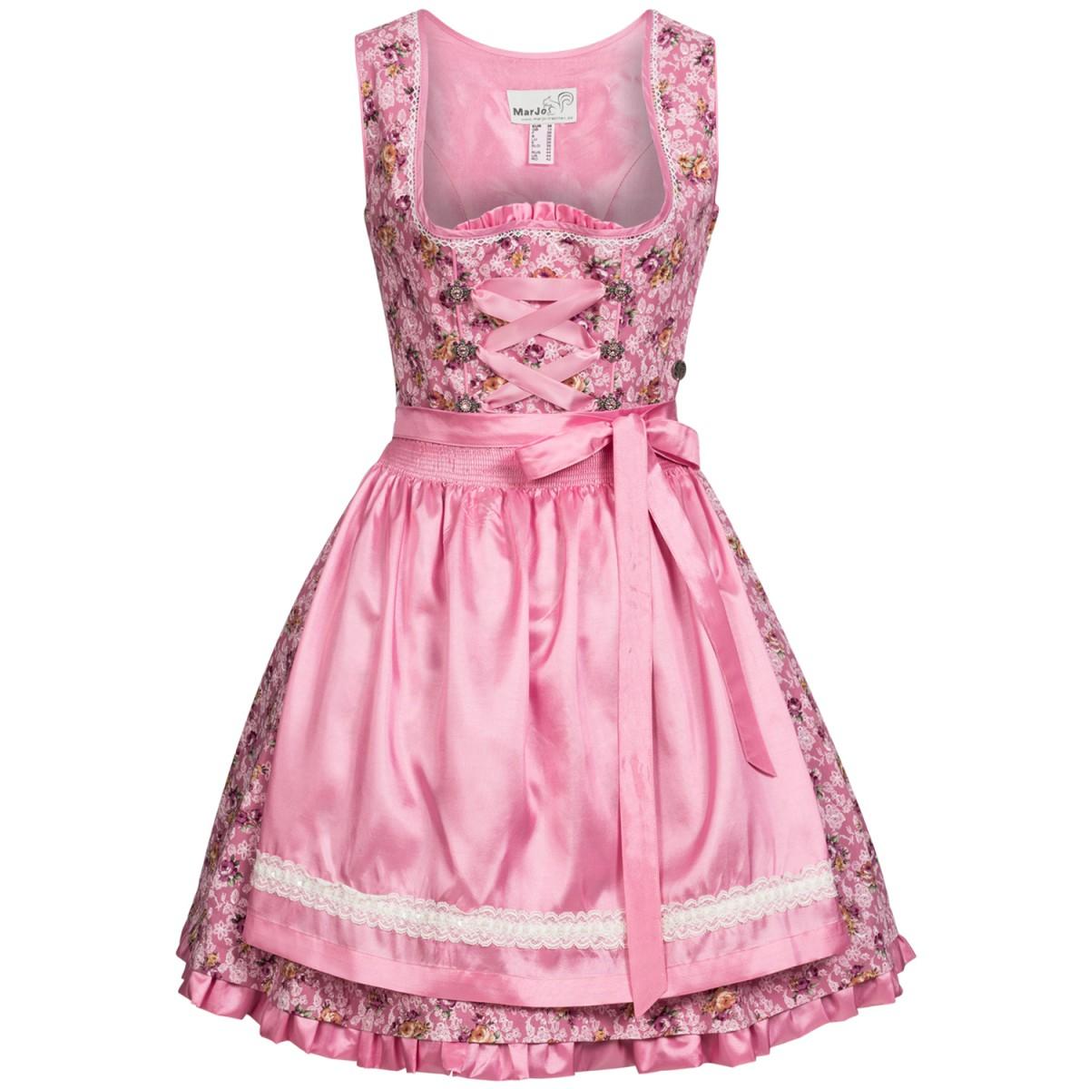mini dirndl agnes in rosa von marjo trachten damen dirndl. Black Bedroom Furniture Sets. Home Design Ideas