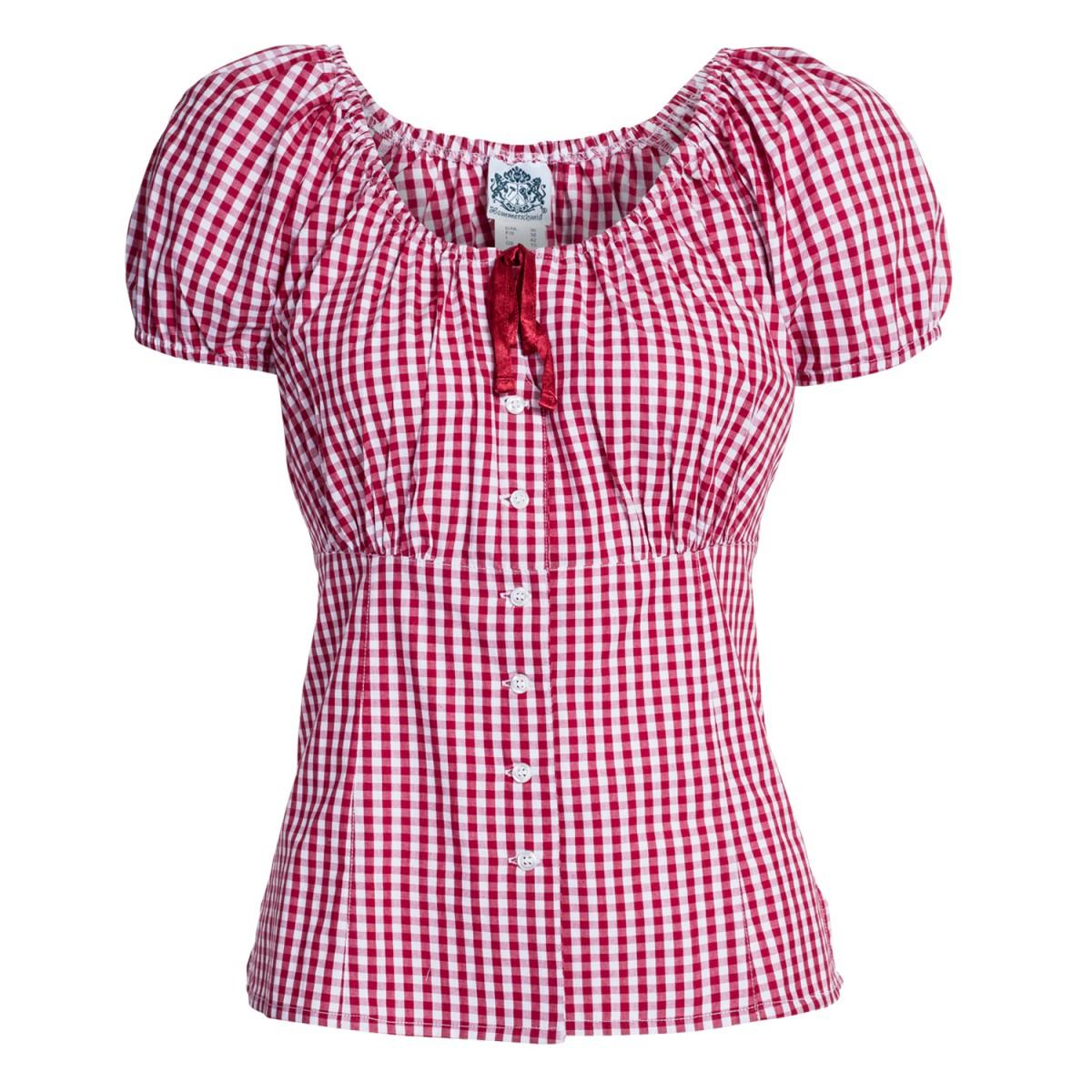 Trachtenbluse rosi in rot von hammerschmid damen blusen - Trachten finest ...