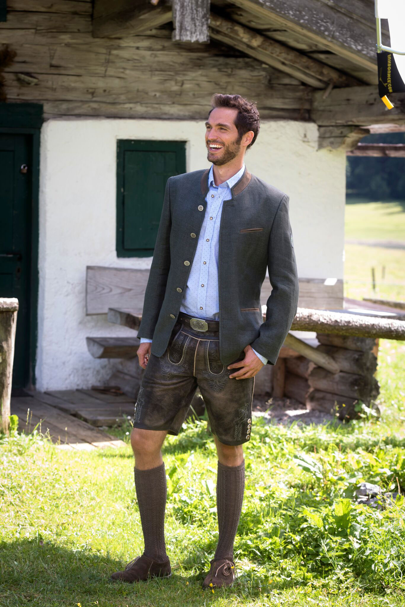 Lodenfrey Herren Trachten-Mode Trachtenjanker Josef in Anthrazit traditionell